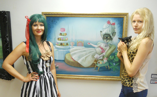 "Ilona Cutts, Niia Alakoski and Katherine the Great at Ilona's Opening ""The Kingdom Come "" 2012"