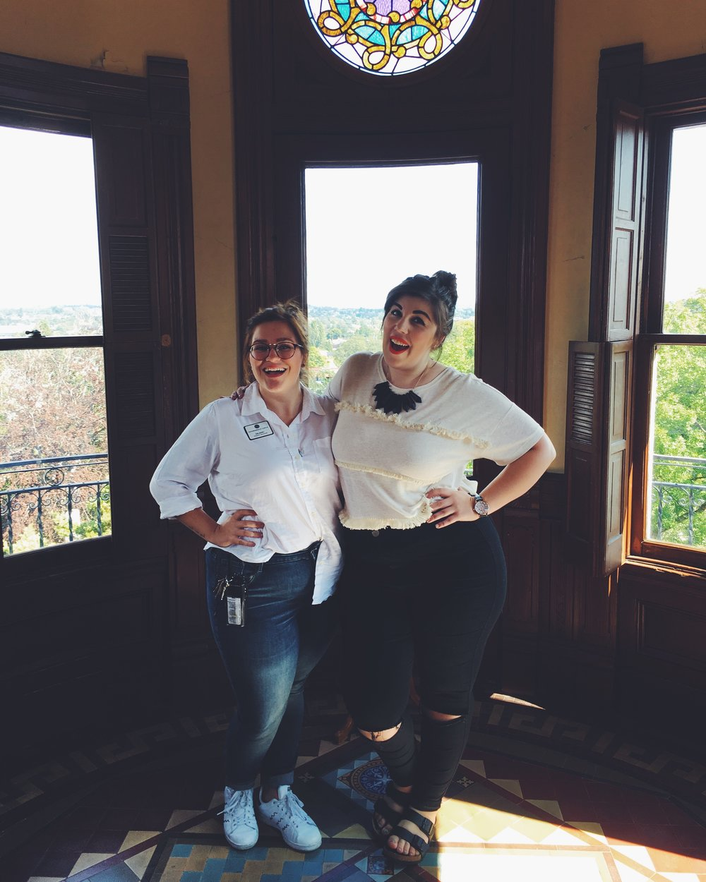 "Delaney is a Floor Supervisor at the castle so she gave us an extra special behind-the-scenes tour. Ps. Fun Fact: Craigdarroch Castle is actually a Bonanza Castle instead of just a castle which means they were ""massive houses built for entrepreneurs who became wealthy during the industrial age."" Check out their   website   for more history about the castle!"