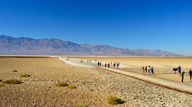 The walk out to the middle of the salt flats. This gives a good perspective of how vast this place is.