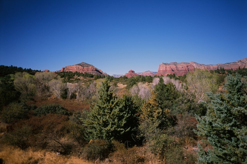 Sedona in late afternoon. Taken with a Yashica T4.