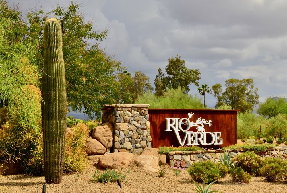 The entrance to Rio Verde…the subdivision right beside ours. We like Rio Verde a lot.