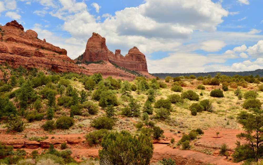 "Beautiful Sedona….one of the amazing views going up Schnebly Road…which is not really a road, but a 4 wheel drive rocky ""path"". It was difficult to drive it, even in our big 4WD Ram."