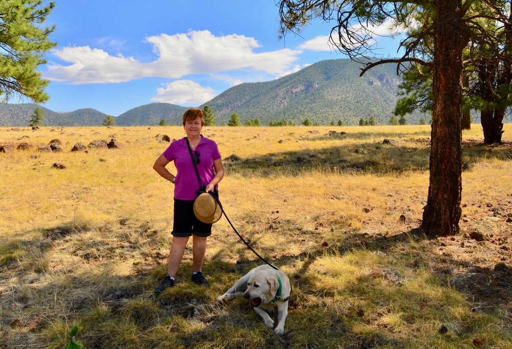"Claudia and Tuck - Buffalo Park in Flagstaff, AZ. This park was once a for-profit ""wilderness park"", where you could go see buffalo and other protected animals. Thankfully, it closed and the city of Flagstaff turned it into an awesome place to hike, mountain bike and hang out."
