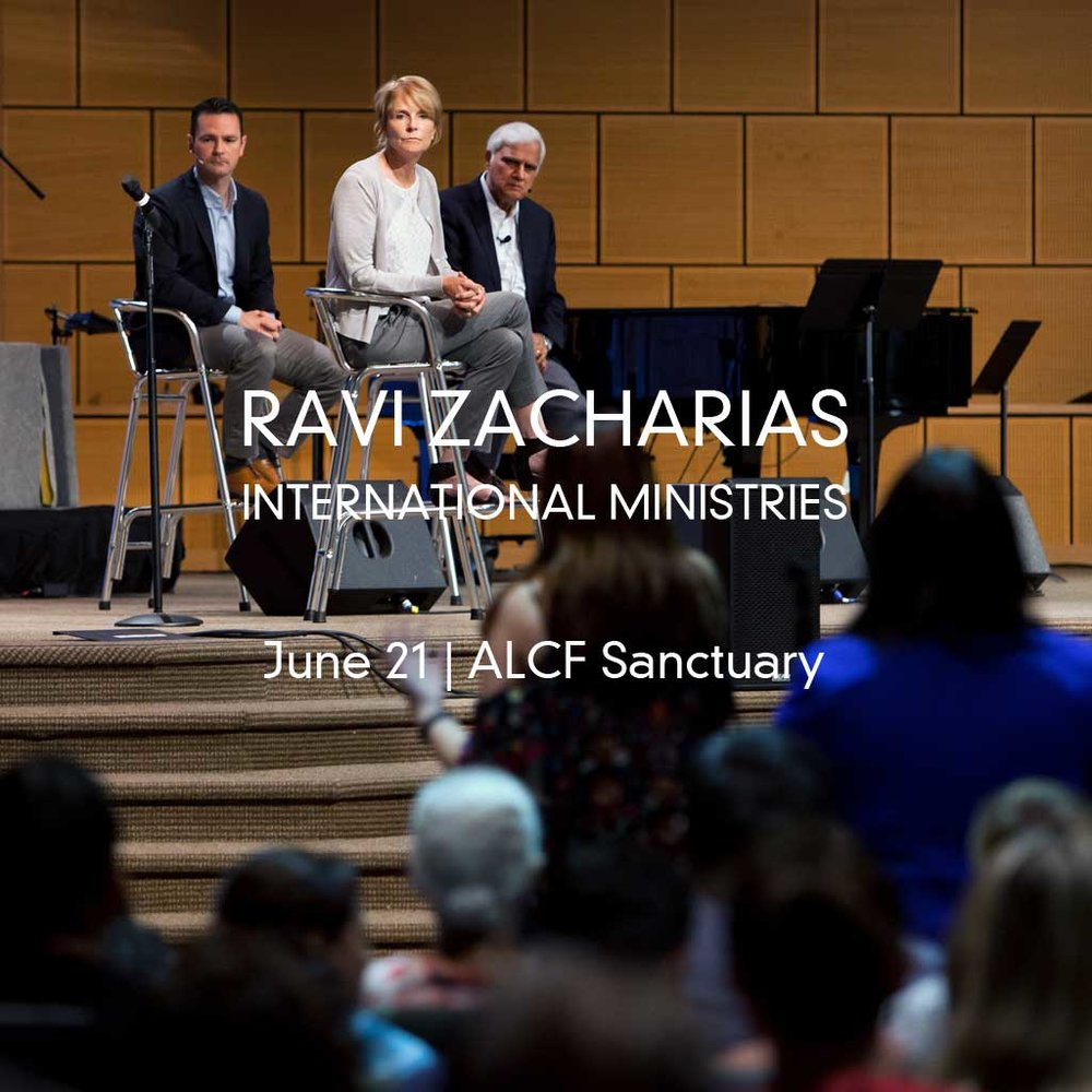 RAVI ZACHARIAS AT ALCF On June 21, Transforming the Bay with Christ hosted Ravi Zacharias at ALCF. Nearly 1,800 people attended this life-altering event. The unedited video is available to view for 90 days. For more information about Ravi Zacharias International Ministries, visit: RZIM.org