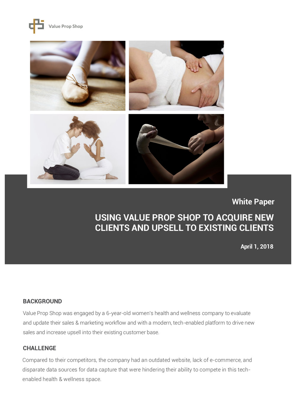 Value Prop Shop White Paper Sales