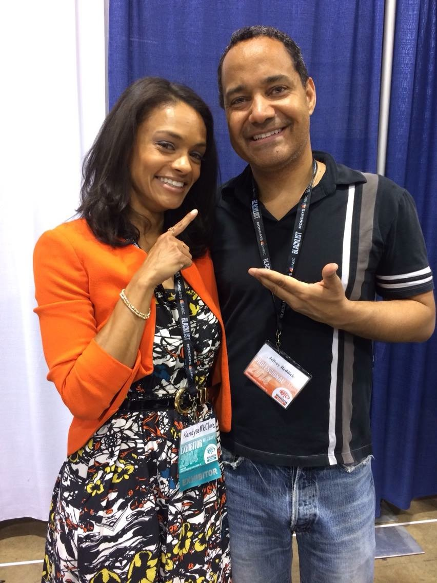 With Kandyse McClure from Return to Cabin by the Lake.