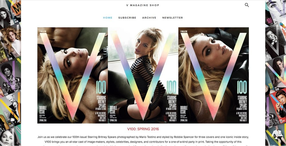 It's Britney, bitch, on  V Magazine 's official Squarespace shop.