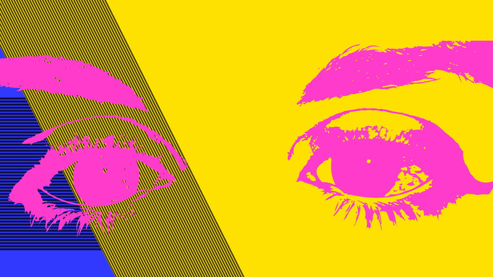 I see you! A silly digital image I made for this article. Hopefully, you don't have PINK EYE! Get it? Oh, wow, I'm silly. – Nicole Russin-McFarland