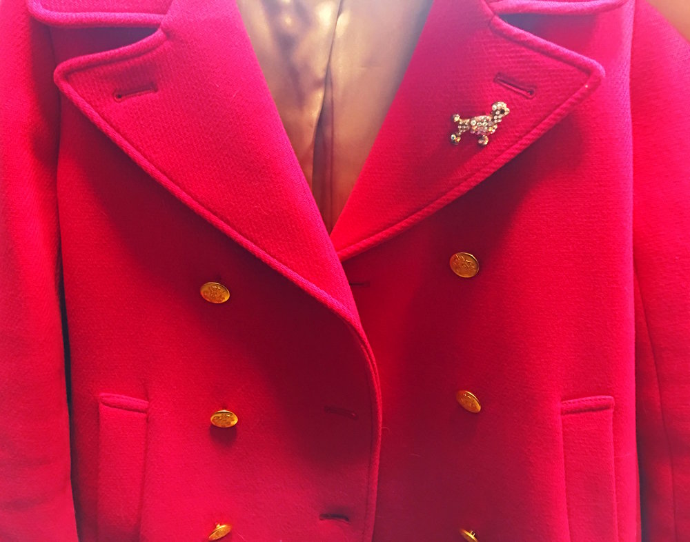A hot pink peacoat I own and love.