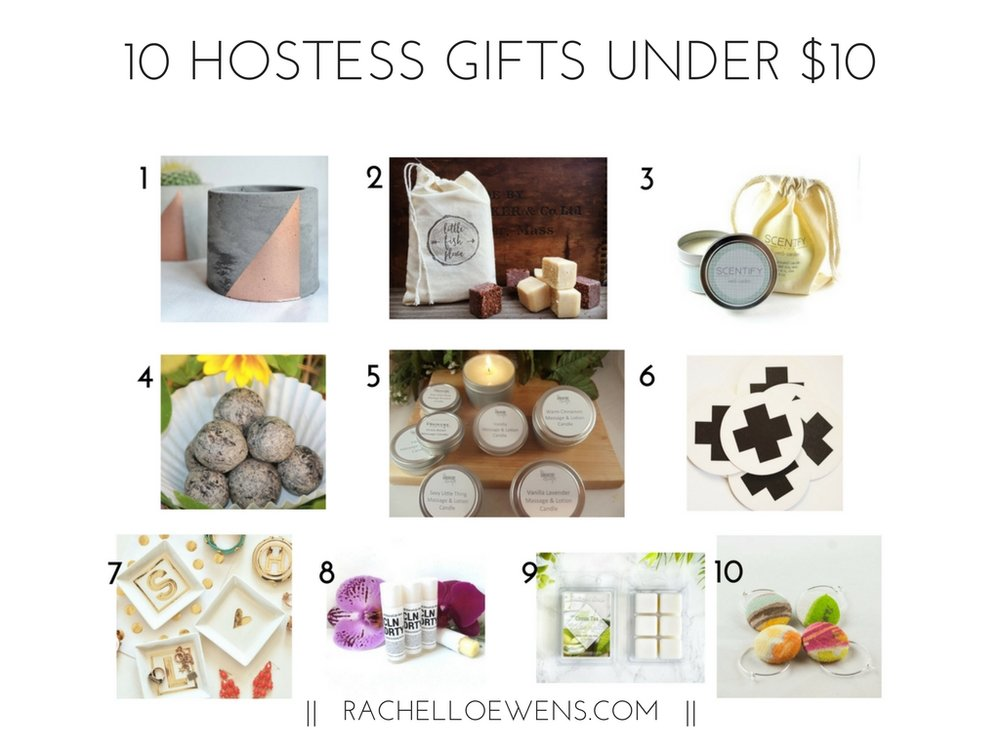 10 Hostess gifts under $10 || Rachel Loewens