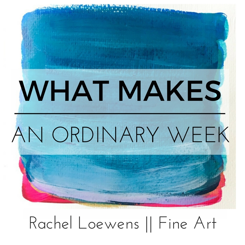 "What makes an ordinary week || blog post || featuring ""Turning season sunset"" 