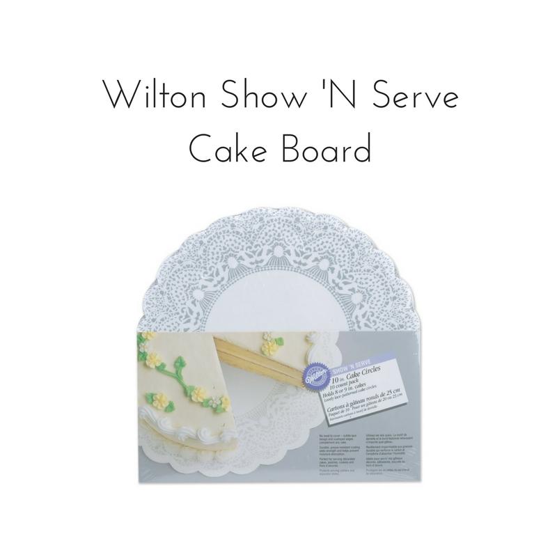 Wilton 10-Inch Show 'N Serve Cake Board || Rachel Loewens