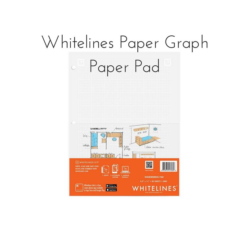 Whitelines Paper Graph Paper Pad || Rachel Loewens Fine Art