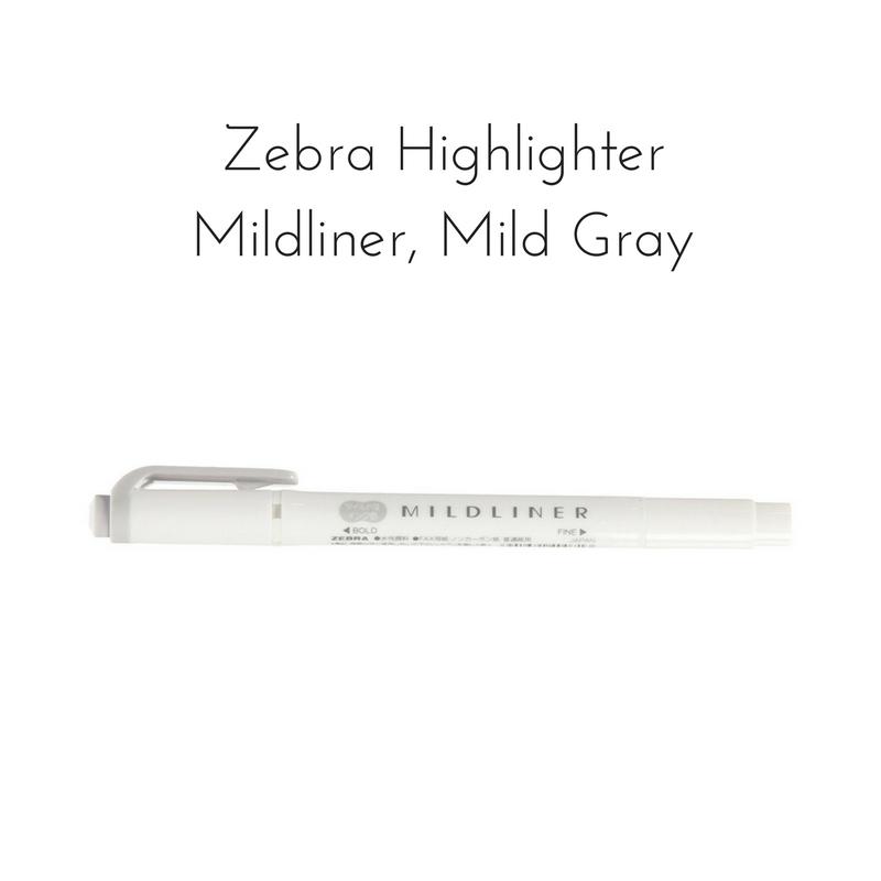 Zebra Midliner, Mild Gray