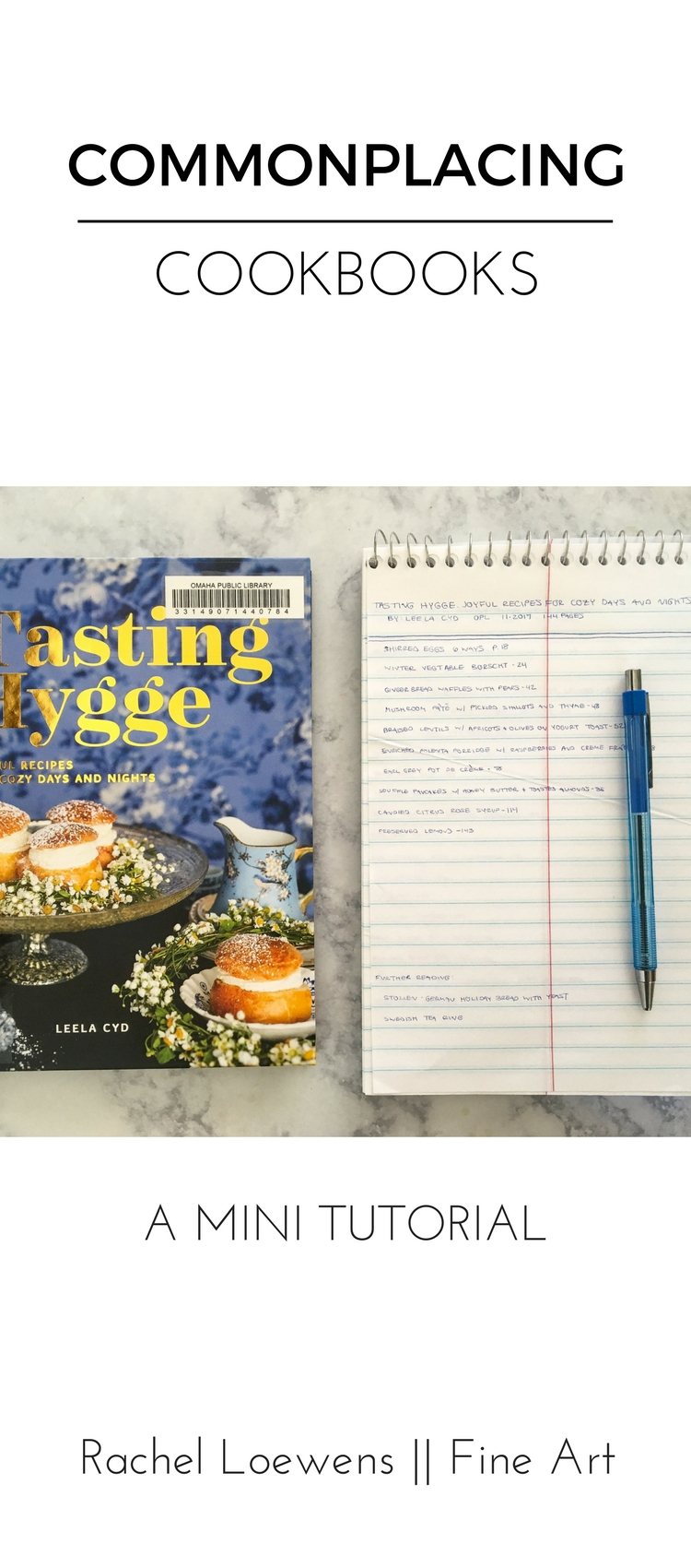 Commonplacing Cookbooks || a mini tutorial || Rachel Loewens Fine Art
