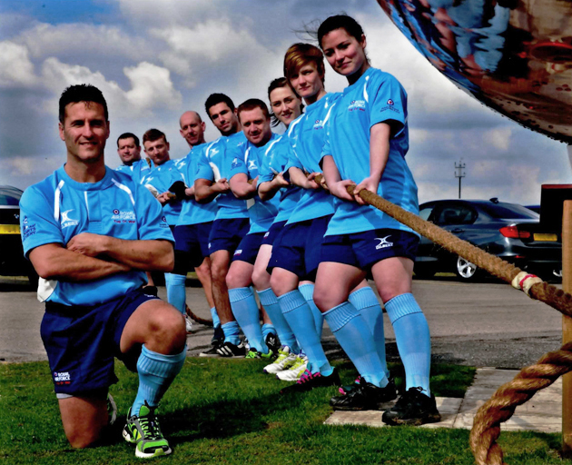 RAF Tug of War team.