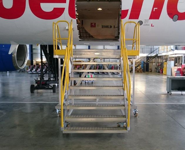 Bespoke Aluminium Airplane Access Steps