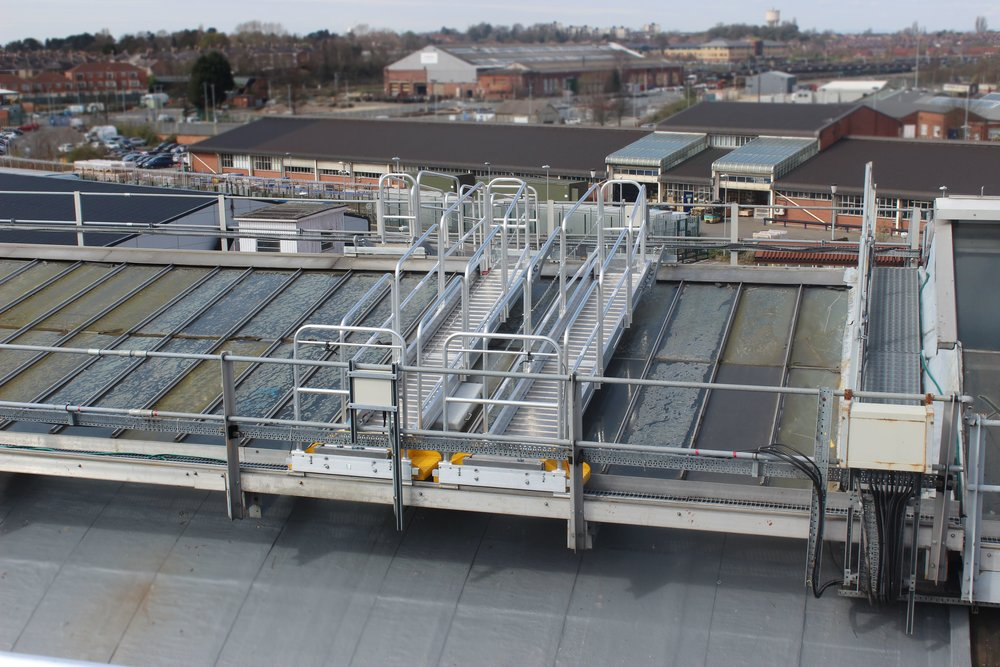 Roof Maintenance Gantries Working at Height.