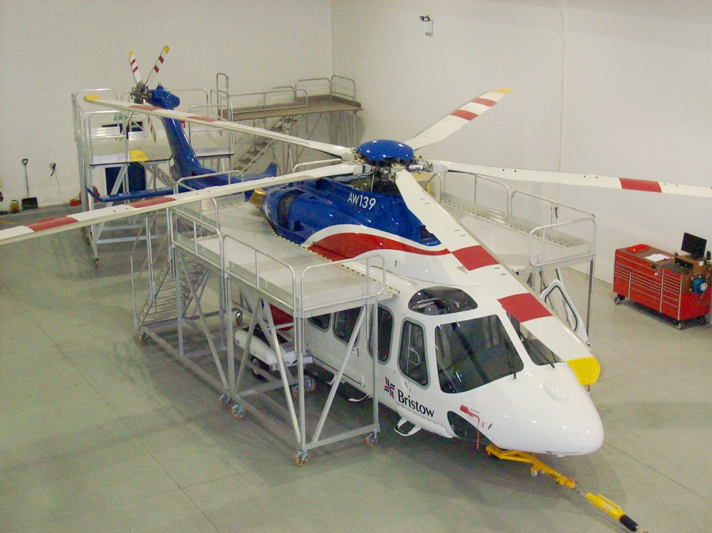 41. Helicopter Maintenance Docking Stands (AW139)
