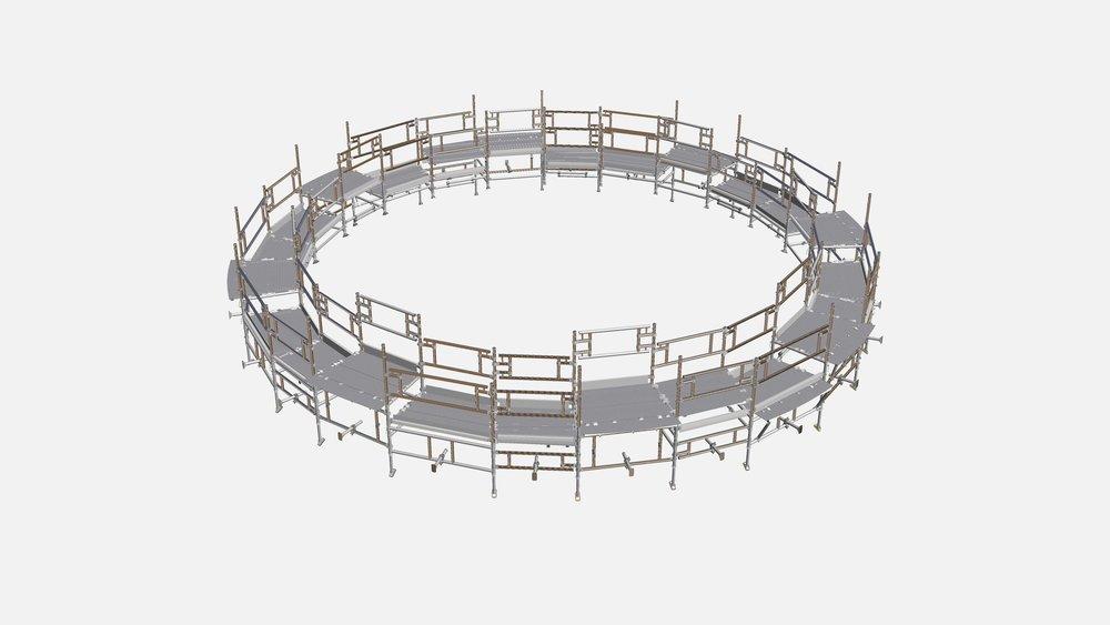 18. Circular Flatpack Modular Access Platform (CAD)