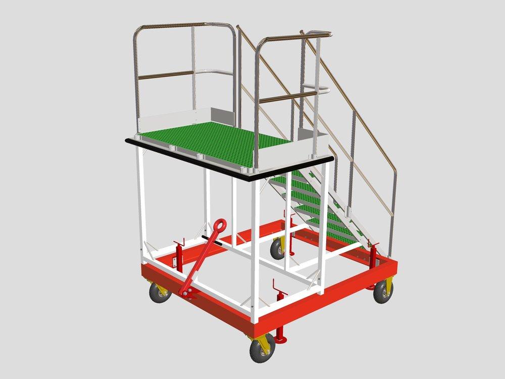 17. Aluminium Access Steps (CAD)
