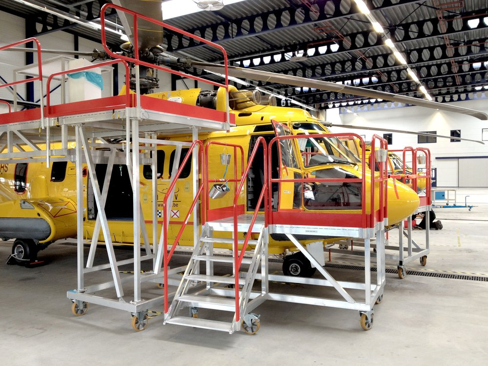 3. Helicopter Maintenance Stands (EC225)