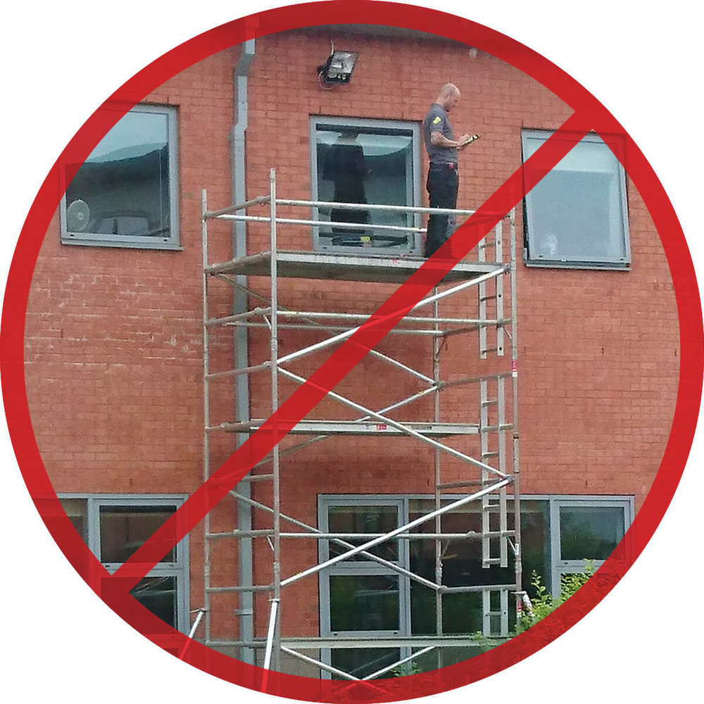 Working at Height – WHAT NOT TO DO