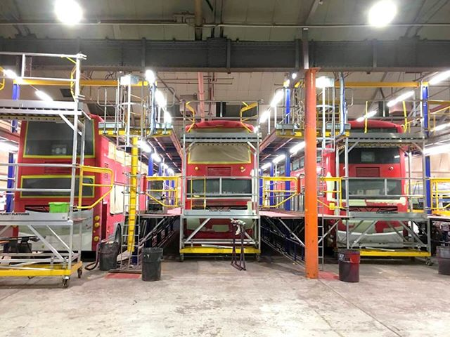 Bust day at Hants & Dorset Trim, bus access. #access #vehicle #platform #bus #hantsanddorsettrim #design #manufacturer #planetplatforms