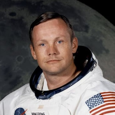 born in the town of Wapakoneta, Ohio, Armstrong flew as a naval pilot during the Korean war and joined the Naval Advisory Committee for Aeronautics (which would eventually become NASA) in 1955. He worked many jobs including engineer, test pilot, administrator, and eventually earned the title of astronaut in 1962. He was the first human being to walk on the moon as part of the Apollo 11 space mission.More Info - Neil Armstrong