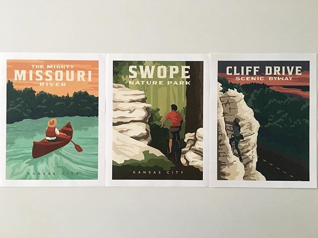 FLASH SALE! Head over to our website and get all three of our posters for just $45. They make great gifts for outdoorsy Kansas Citians AND the proceeds fund our programs!  Artwork by the talented @kelly.pullen