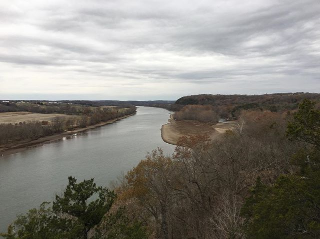 Land Acknowledgement: this photo was taken on the ancestral lands of the Osage and Nyuatachi (aka the Missouri), along the Osage Bluff Trail overlooking the Osage River, south of Jefferson City, MO. Near this spot is what is believed to be a burial cairn of an Osage Chief that is from 500-1500 CE, along with petroglyphs from the natives who cared for this land. #ExploreYourRoots