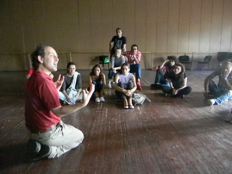 Mechanics choreo drama rehearsals Tbilisi.jpg