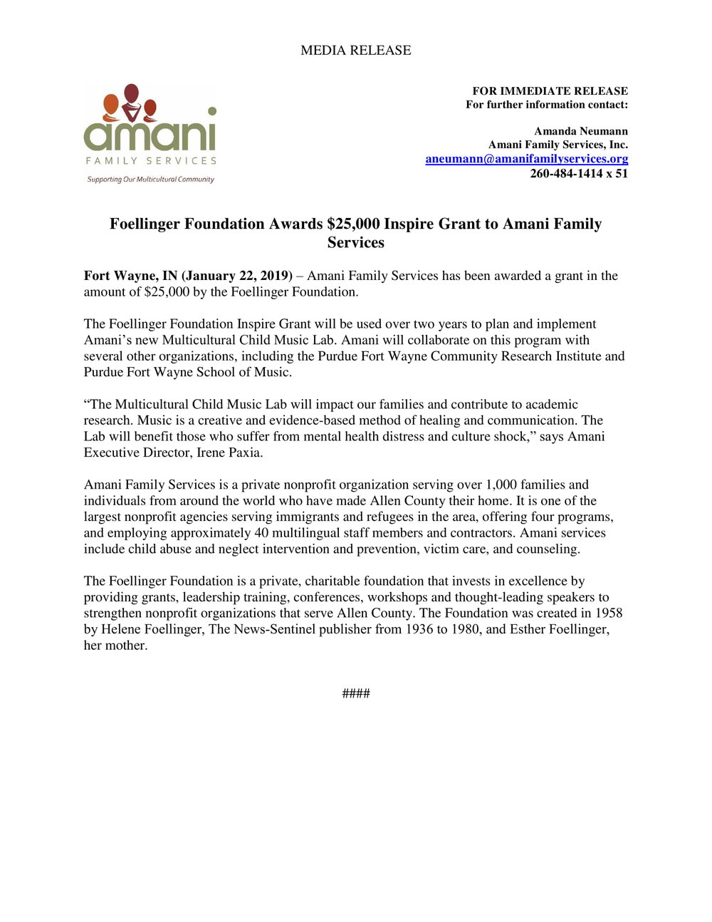 Foellinger 2019 Inspire Press Release - Amani Family Services-1.jpg