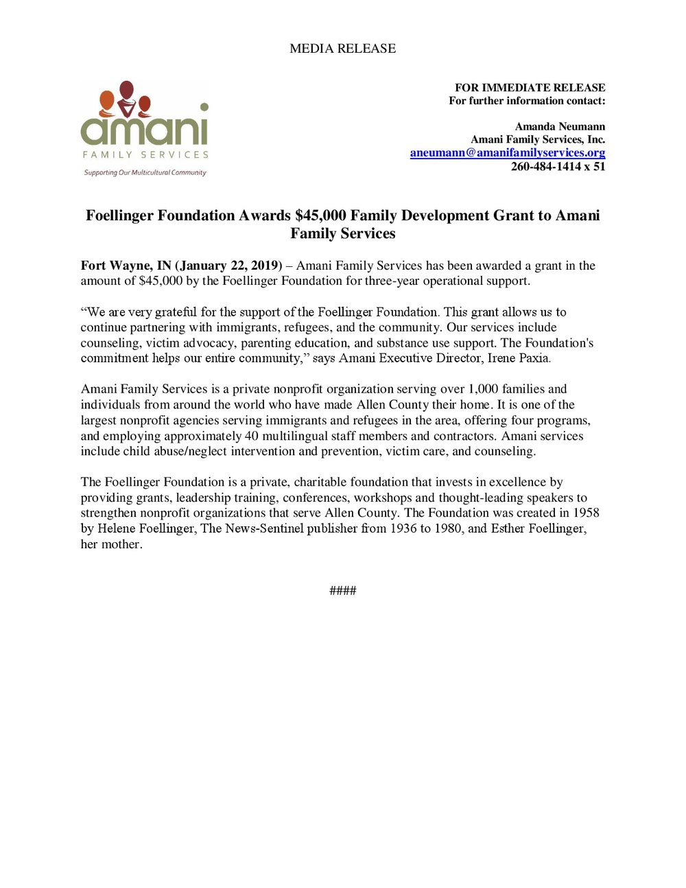 Foellinger 2019 Family Development Press Release - Amani Family Services-001.jpg