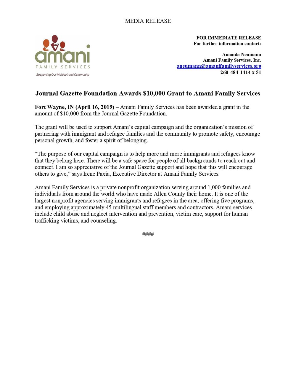 Journal Gazette Foundation 2019 Press Release - Amani Family Services_page-0001.jpg