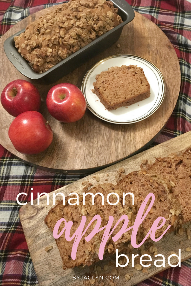 Apple Cinnamon Bread with Oatmeal Crumble Topping
