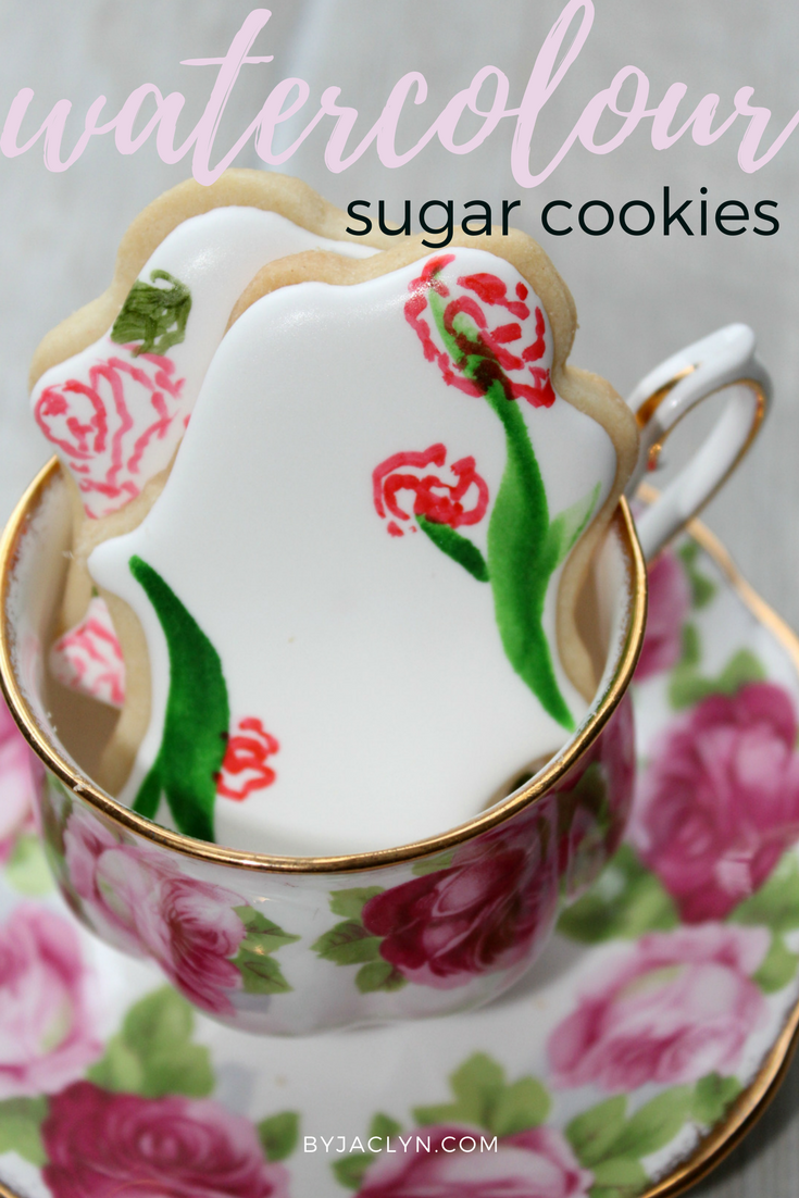 Hand Painted Floral Water Colour Sugar Cookies - Video Tutorial