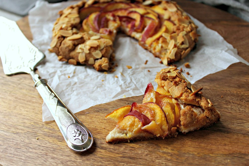 Gluten Free Almond and Peach Galette