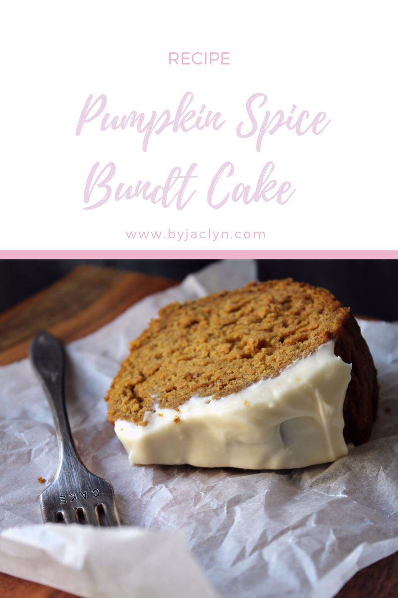 Pumpkin Spice Bundt Cake with Cream Cheese Glaze