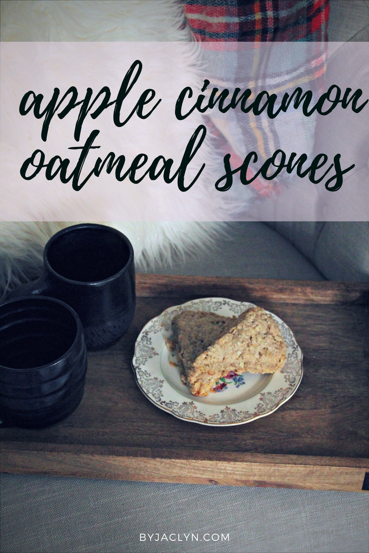 Apple Cinnamon Oatmeal Scones