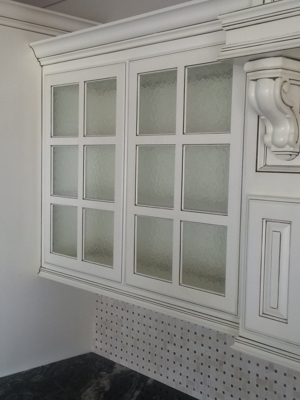 Obscure Glass Cabinets