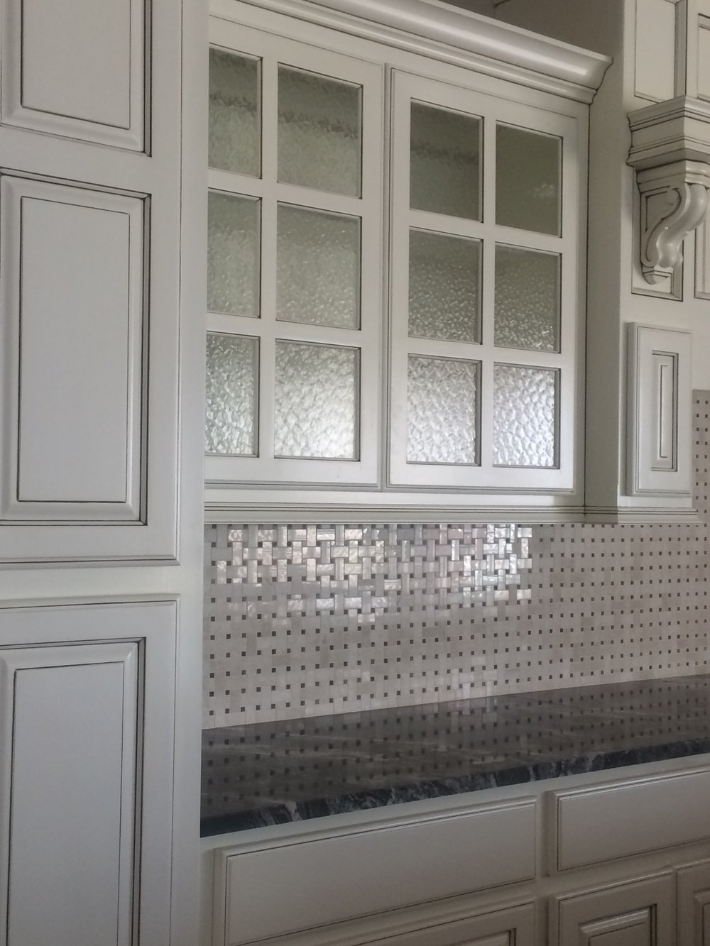 Personal touch in the kitchen? - • Glass backslash• Glass for Cabinet doors• Floating glass shelves• Glass cabinet shelves• Custom glass ideas