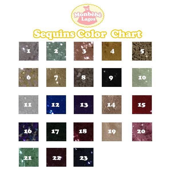 Sequins Color Chart