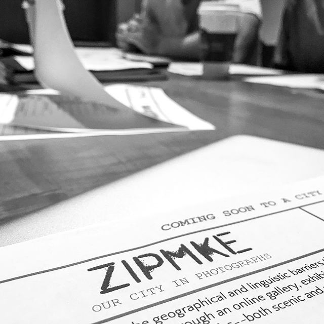 First Zipster planning meeting was a success, excited to start putting this project together! #zipmke