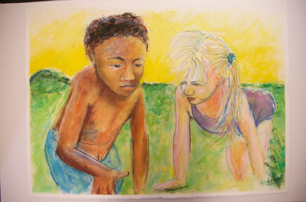 "NICK HANSEN   Watercolor, ink, and soft pastel on watercolor paper | 23""x30""  (unframed)   Value:  $250 