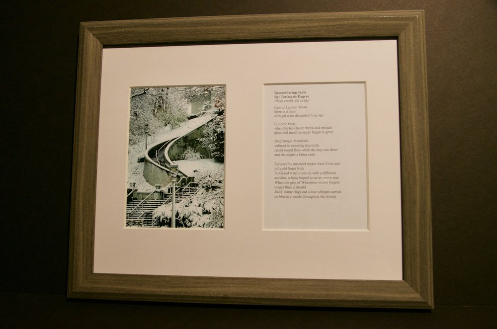 "TERIMARIE DEGREE   13""x16"" photo and original poem (framed)   Value:  $200 