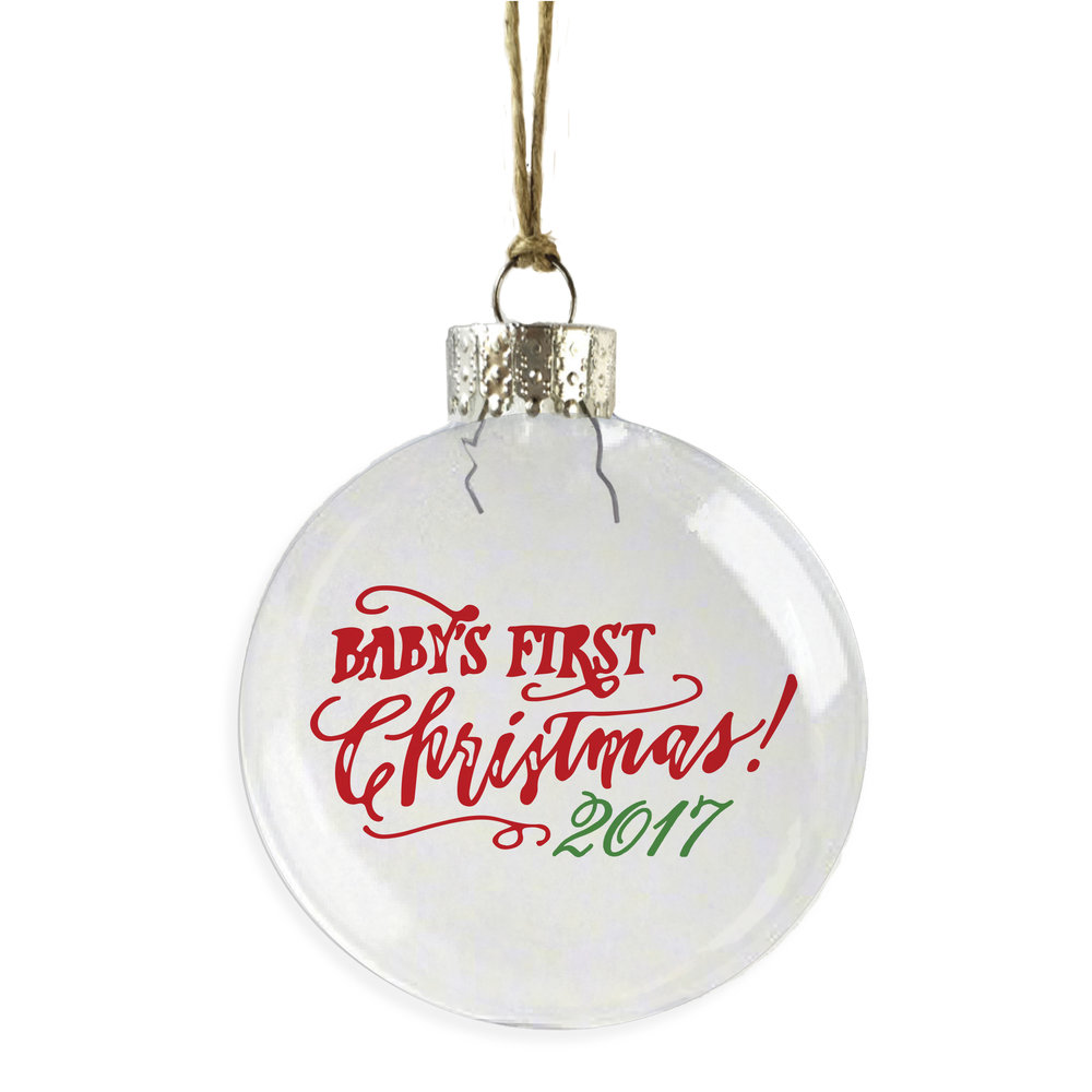 baby s first christmas ornament skel design