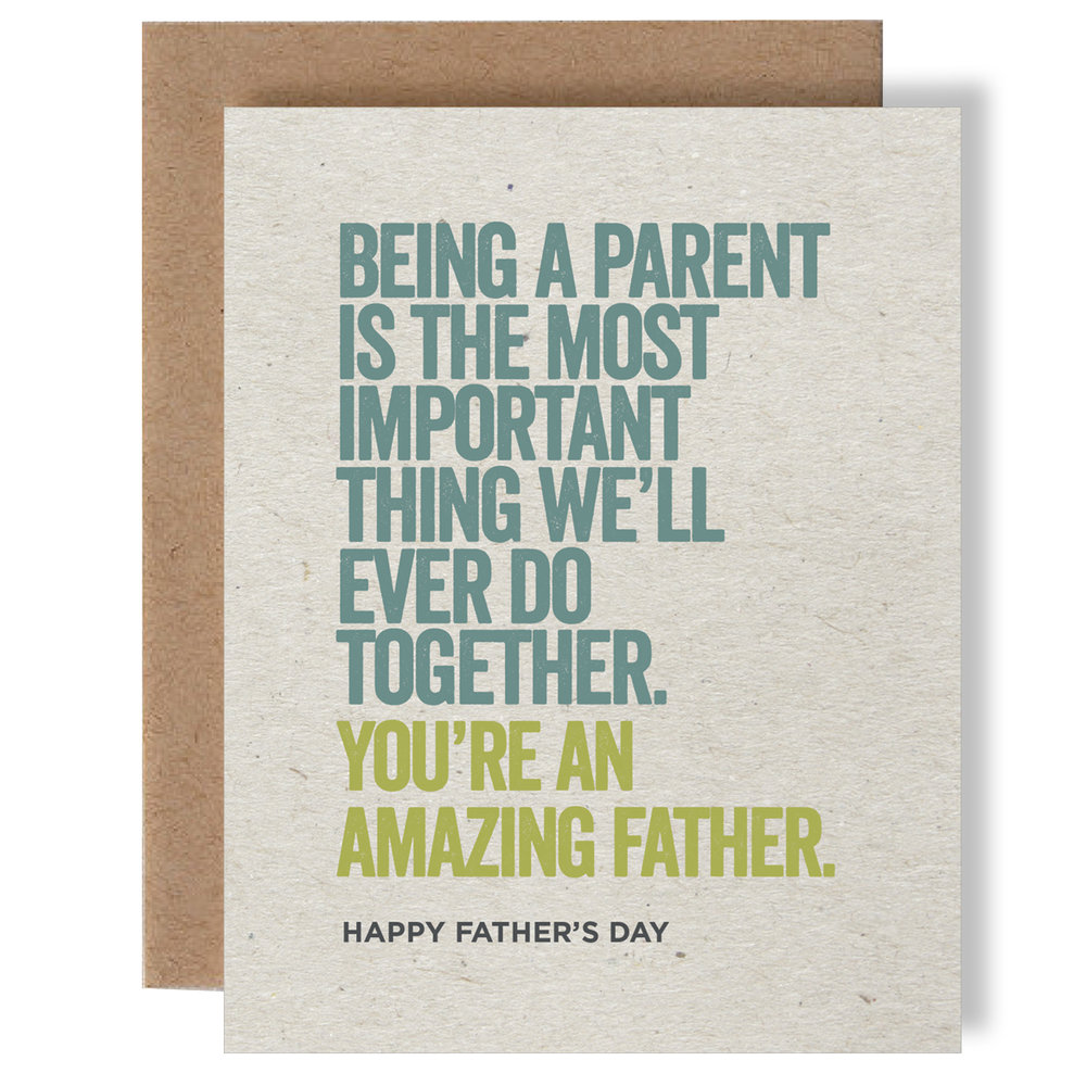 Amazing Father Greeting Card Skel Design