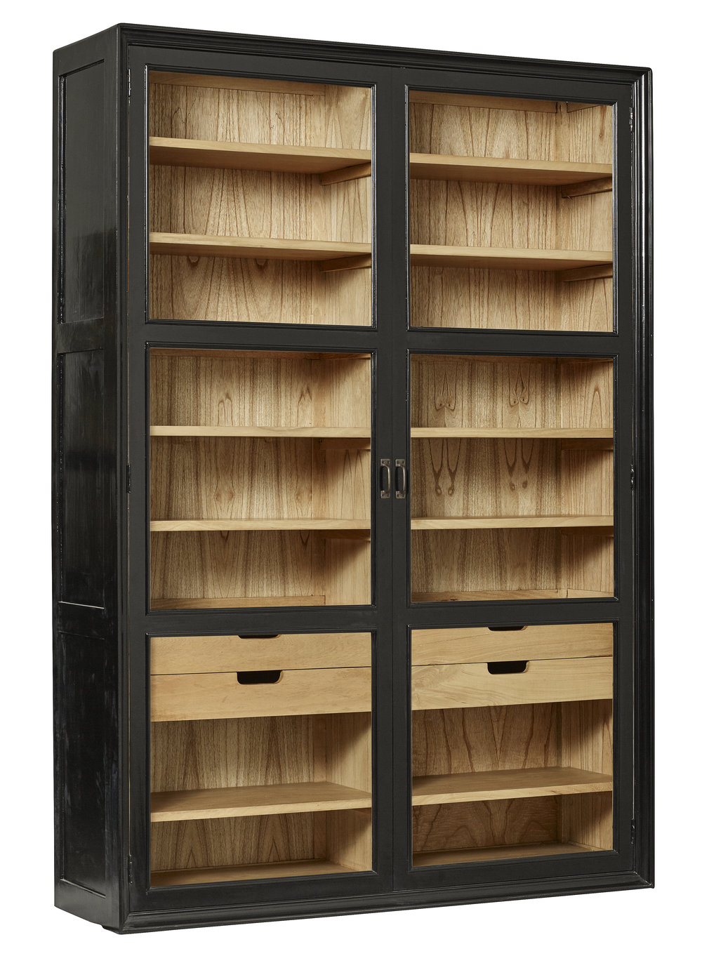 Mango Wood Cabinet With Glass Doors