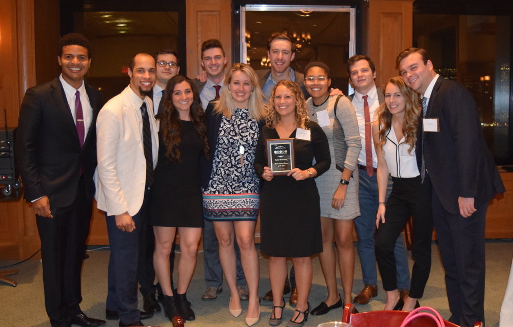 BESLS 2016/17 Executive Board with 2017 Alumni Honoree Carly Rosenberg (Class of 2009)